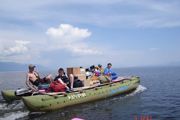 катамаран для рыбалки 2-х местная